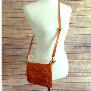 Handbags - Made In Italy Orange Crossbody Bag NWT 🇮🇹